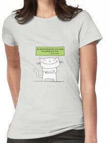 All generalizations are false... / Cat doodle Womens Fitted T-Shirt