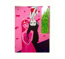 Princess Bubble Gum & Marcy the Vamp Art Print