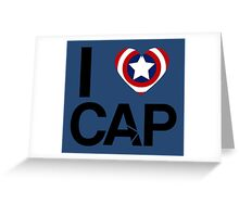 I <3 Cap Greeting Card