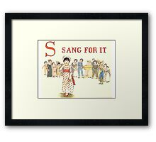Kate Greenaway 1886 a apple pie S Sang for it Framed Print
