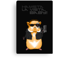 Hamster Terminator Text Canvas Print
