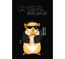 Hamster Terminator Text Photographic Print
