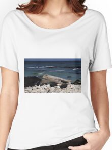 Sitting at the Beach Women's Relaxed Fit T-Shirt