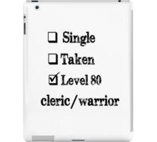 Level 80 Cleric/Warrior iPad Case/Skin