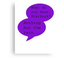 What Do You Hear?  Canvas Print