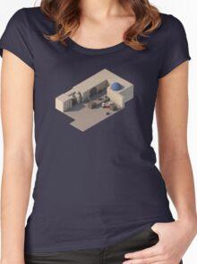 de_dust2 B Site Women's Fitted Scoop T-Shirt