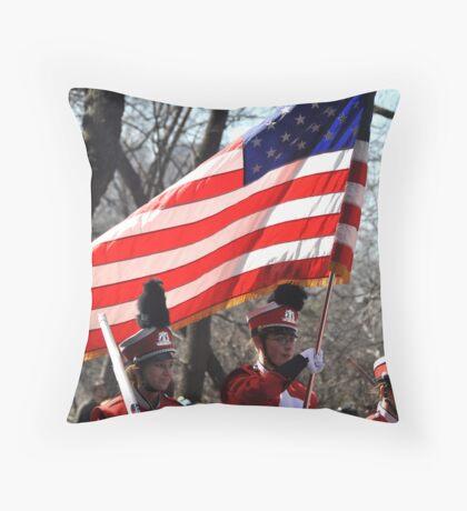 brite flag Throw Pillow