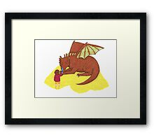Fire and Sting Framed Print
