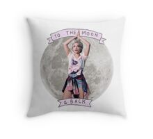 Halsey To The Moon & Back Throw Pillow