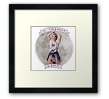 Halsey To The Moon & Back Framed Print