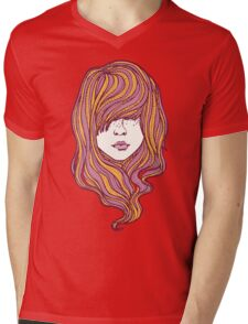 Her hair Mens V-Neck T-Shirt
