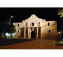 The Alamo at Night Photographic Print