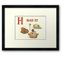 Kate Greenaway 1886 a apple pie H Had it Framed Print