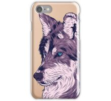 Blue eyed wolf iPhone Case/Skin