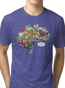 Pixelated Memories Tri-blend T-Shirt