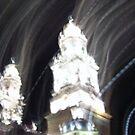 Morelia cathedral at night by johnny hancen