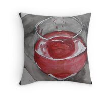Rose Colored Lips Throw Pillow