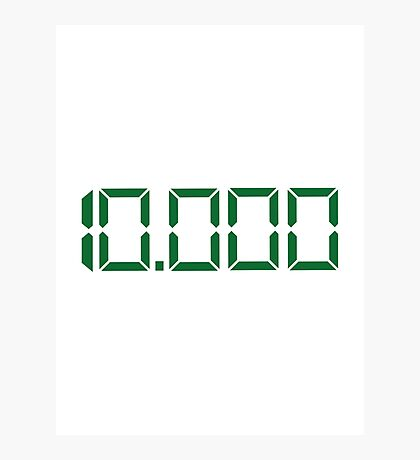 Number 10000 Photographic Print
