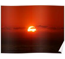 Sunrise over the Ocean Poster