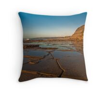 Blue reflections of Bar Beach Throw Pillow