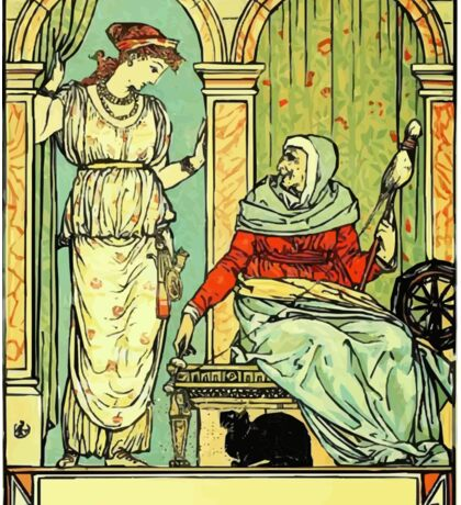 The Sleeping Beauty Picture Book Plate 001 - Long Ago In Ancient Times Sticker