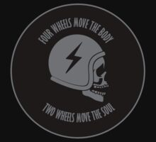 Two wheels move the soul skull Kids Clothes
