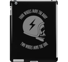 Two wheels move the soul skull iPad Case/Skin