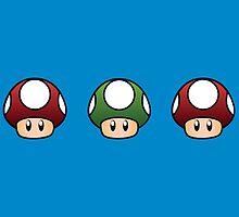 Triple mushroom by Lauramazing