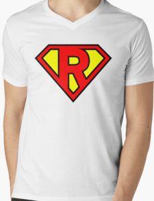 Super R Mens V-Neck T-Shirt