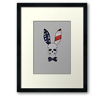 Skull Bunny Framed Print