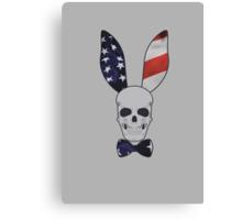 Skull Bunny Canvas Print