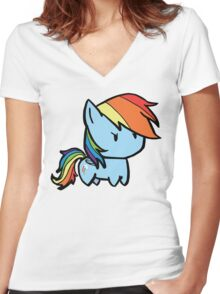 rainbow dash Women's Fitted V-Neck T-Shirt