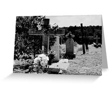 CHILILI, NEW MEXICO GRAVEYARD (CARD) Greeting Card