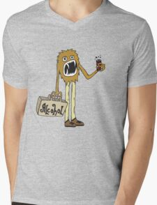 Long Booze Man Mens V-Neck T-Shirt