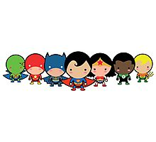 The Cute Justice League Photographic Print