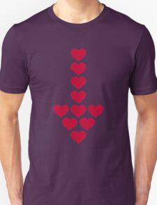 Red hearts arrow Unisex T-Shirt