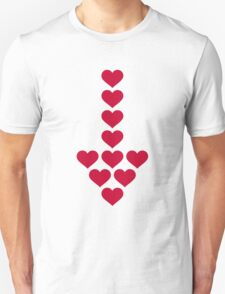 Red hearts arrow Unisex T-Shirt