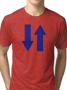 Blue arrows Tri-blend T-Shirt