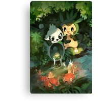 Chespin & Pancham Canvas Print