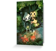 Chespin & Pancham Greeting Card