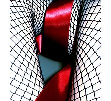 Red Ribbon Girl Photographic Print