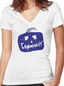 Community Halloween Women's Fitted V-Neck T-Shirt