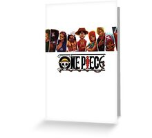 One Piece Characters Greeting Card
