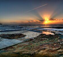 Sunlit Jetstream - South Curl Curl Sunrise by Jason Ruth