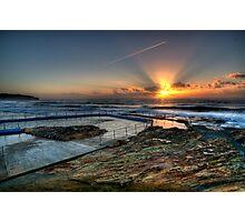 Sunlit Jetstream - South Curl Curl Sunrise Photographic Print