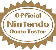 Official Nintendo Game Tester by Exclamation Innovations