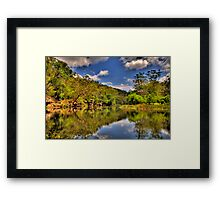 Let Us Reflect - Hacking River - Royal National Park - The HDR Experience Framed Print