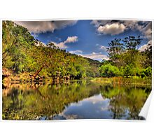 Let Us Reflect - Hacking River - Royal National Park - The HDR Experience Poster