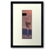 Pouring at Sunset Framed Print