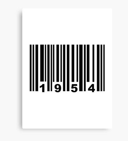 Barcode 1954 Canvas Print